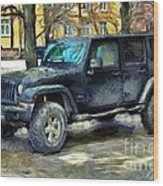 Jeep Wrangler Wood Print
