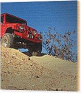 Jeepin' The Mojave Wood Print