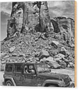 Jeep...it's A State Of Mind Wood Print