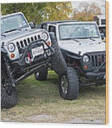 Jeeps In Juxtaposition Wood Print
