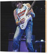 Jeff Beck On Guitar 1 Wood Print by Jennifer Rondinelli Reilly - Fine Art Photography