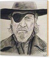 Jeff Bridges As U.s. Marshal Rooster Cogburn Wood Print