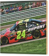 Jeff Gordon Wood Print