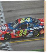 Jeff Gordon Dupont Chevrolet Wood Print