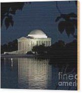 Jefferson At Night Wood Print