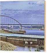 Jefferson Barracks Bridge A View From Cliff Cave Wood Print