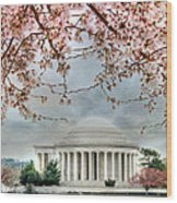 Jefferson Blossoms Wood Print