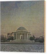 Jefferson Memorial At Dusk Wood Print