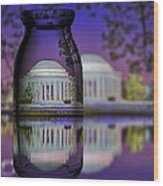 Jefferson Memorial In A Bottle Wood Print by Susan Candelario