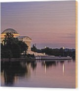 Jefferson Memorial Sunset Wood Print