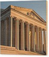 Jefferson Memorial Sunset Wood Print by Steve Gadomski