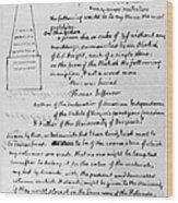 Jefferson: Tombstone Wood Print