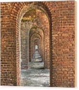 Jefferson's Arches Wood Print