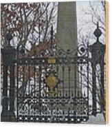 Jefferson's Grave Wood Print