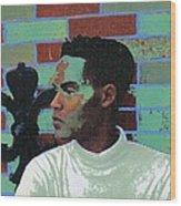 Jeffrey Burton Fisher 1989 Wood Print by Feile Case