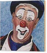 Watercolor Clown #11 Jeffrey Potts  Wood Print