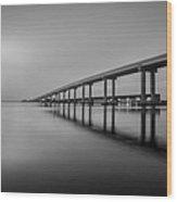 Jekyll Island Bridge Wood Print