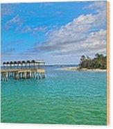 Jekyll Island Just Like Paradise Wood Print