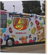 Jelly Belly On Wheels Wood Print