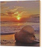 Jelly Fish Sunrise Avon Pier 1 1/15 Wood Print