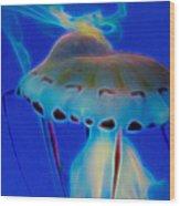 Jellyfish 2 Digital Artwork Wood Print