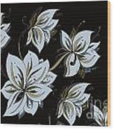 Jellyfish Flower Wood Print