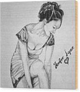 Jeniffer Lopez Wood Print