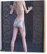 Jennie With Iron Gate 3 Wood Print