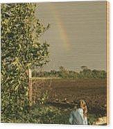 Jennifer's Rainbow Wood Print