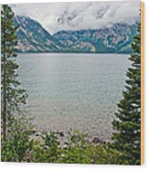 Jenny Lake In Grand Tetons National Park-wyoming  Wood Print