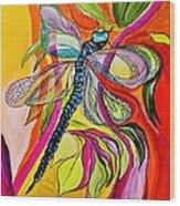 Jenny's Dragonfly In Acrylic Wood Print