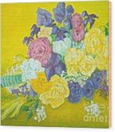 Jen's Wedding Bouquet Wood Print