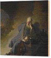 Jeremiah Lamenting The Destruction Of Jerusalem Wood Print