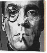 Jeremy Irons Portrait Wood Print