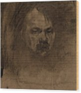 Jerome Myers, Self-portrait, American, 1867 - 1940 Wood Print