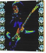 Jerry And The Flowers 2 Wood Print