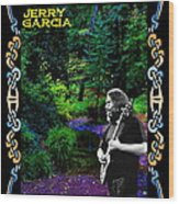 Jerry At Psychedelic Creek Wood Print