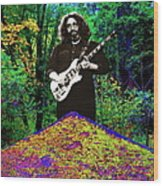 Jerry At The Cosmic Pyramid In The Woods  Wood Print