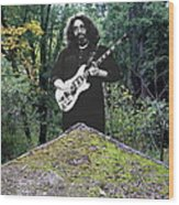 Jerry At The Pyramid In The Woods Wood Print