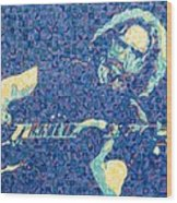 Jerry Garcia Chuck Close Style Wood Print