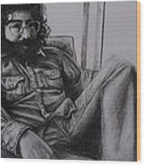 Jerry Garcia In '72   Wood Print by Leandria Goodman