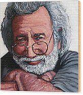 Jerry Garcia Wood Print