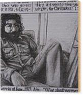 Jerry Garcia....taken From Rollingstone Interview 1972 Wood Print