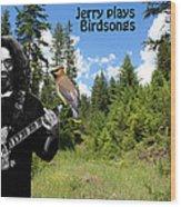 Jerry Plays Birdsongs Wood Print