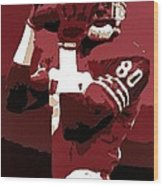 Jerry Rice Poster Art Wood Print