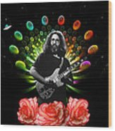 Jerry Spacepods Ufo Roses 1 Wood Print