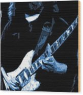 Jerry Stretches The Blues Wood Print