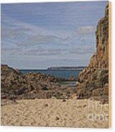 Jersey Beach  Wood Print