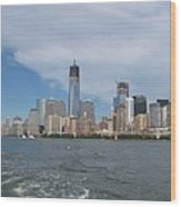 Jersey City And Hudson River Wood Print