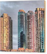 Jersey City Color Wood Print